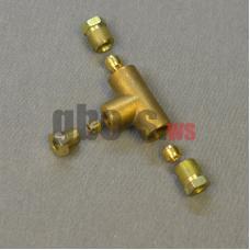 Тройник соединительный для медной трубки D8-8-6