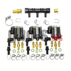 Газовые форсунки STAG W-03 3 цил., с жиклерами D1,5 мм и штуцером в коллектор+распределитель