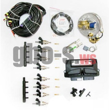 Комплект STAG-8 QMAX BASIC, ред. Palladio 310 л.с., форс. Hana Single, распред, штуцера, ф 1-2