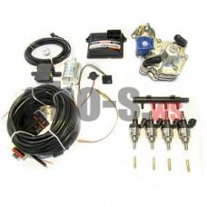 Комплект STAG-4 Q-BOX BASIC, ред. Alaska 120 л.с., ДТР, форс. Hana Single, распред, штуцера, ф. 1-1