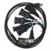 Профессиональный универсальный кабель для ГБО на 6 разъемов