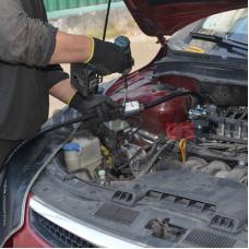 Замена газовых шлангов от редуктора к топливной рампе форсунок