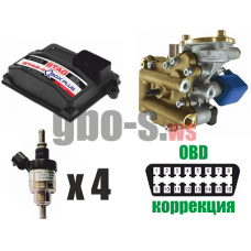 Установка ГБО STAG-4 Q-BOX PLUS, ред. Artic 160 л.с., ДТР, форс. Barracuda баллон 42 л.